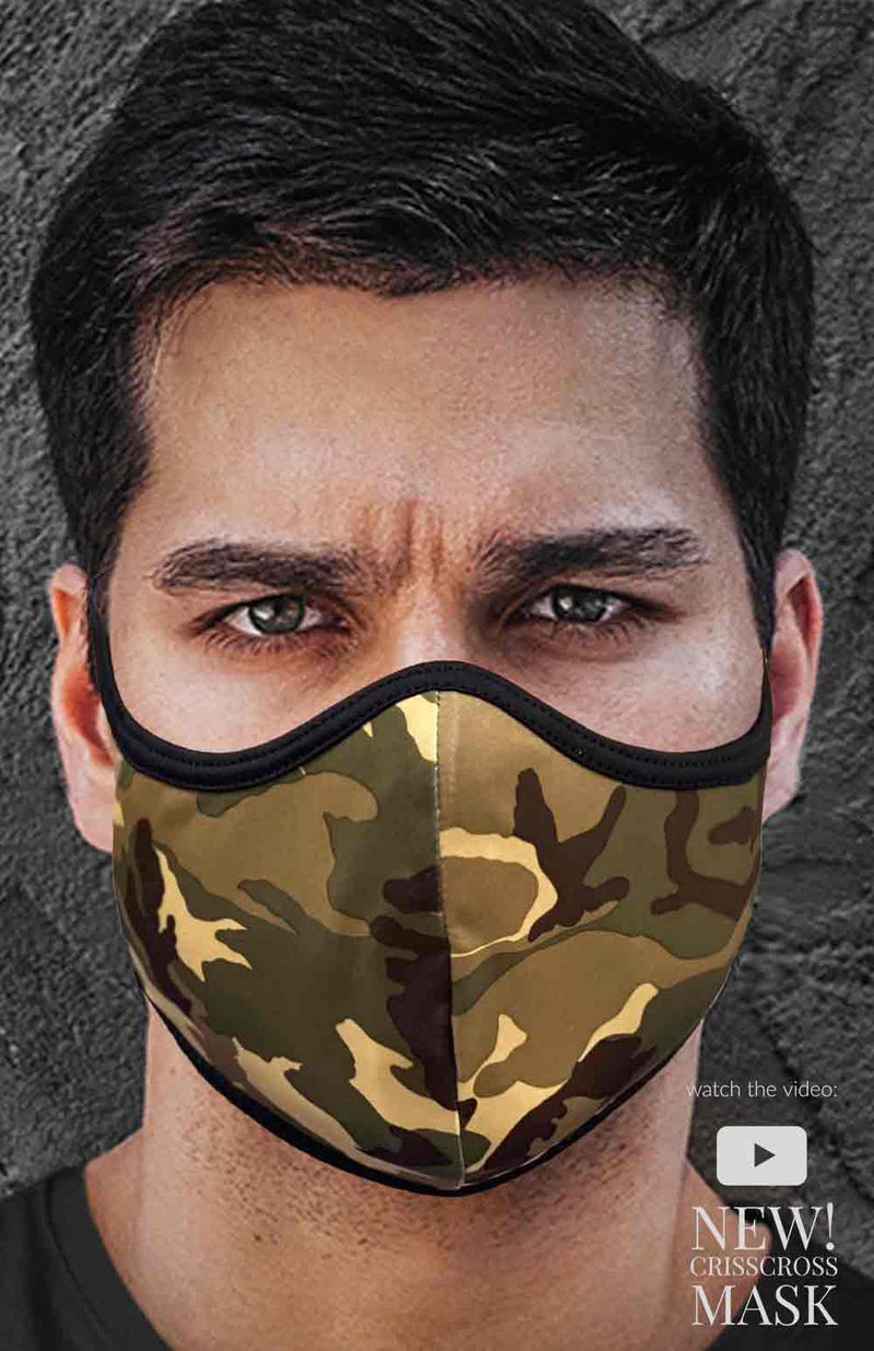 CRISSCROSS ARMY - FACE MASK