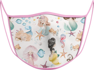 Mermaid - KIDS FACE MASK - With pocket for filter