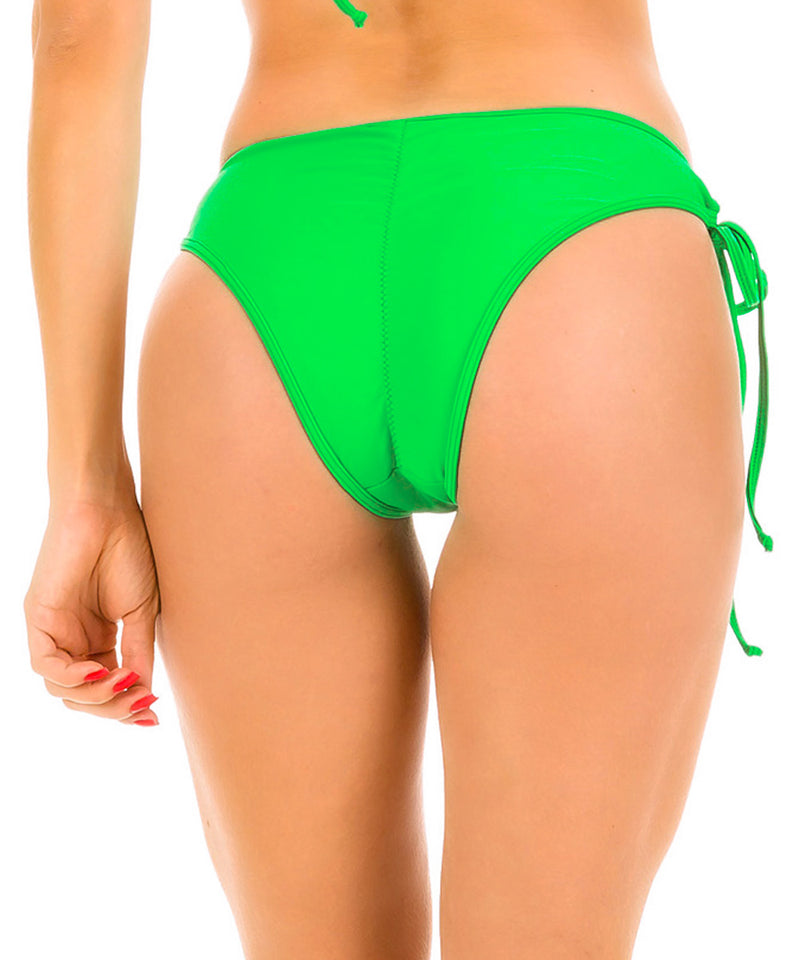 Neon Green - Ruched Moderate Coverage