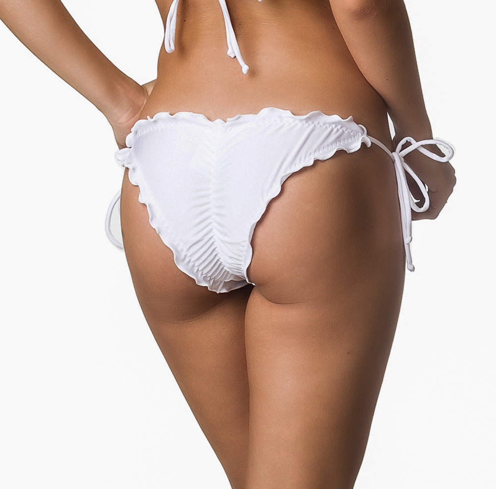 PRU White - Ruffles Bumbum Bottom