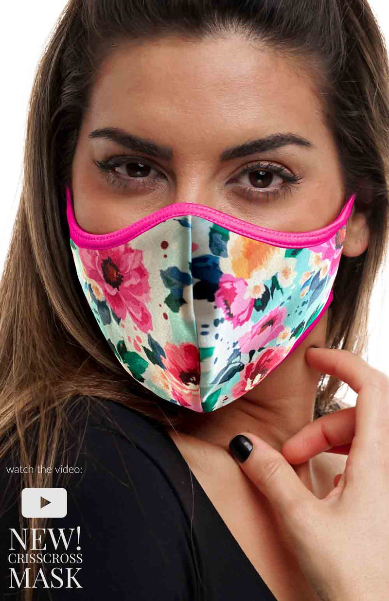 CrissCross PRETTY IN PINK - FACE MASK