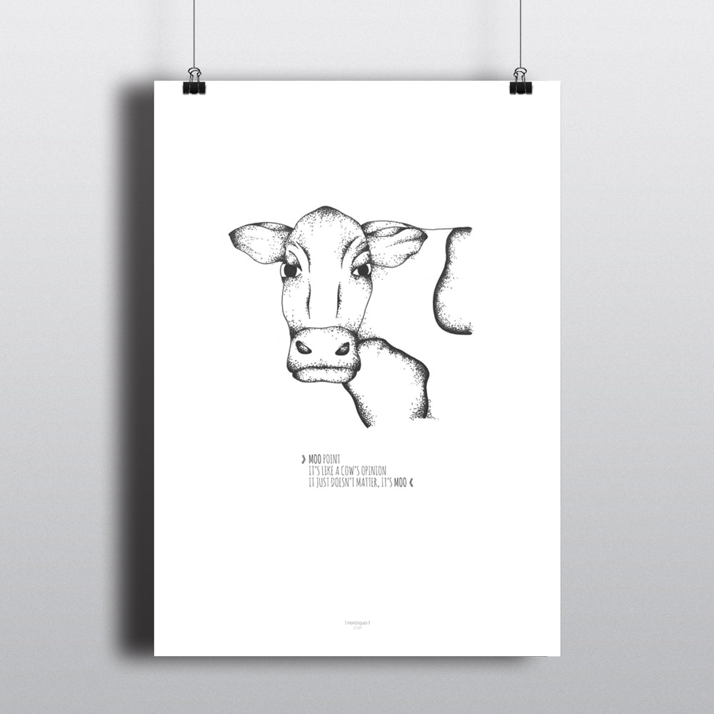 MOO POINT FRIENDS POSTER