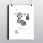 MOO POINT FRIENDS POSTER - BLACK