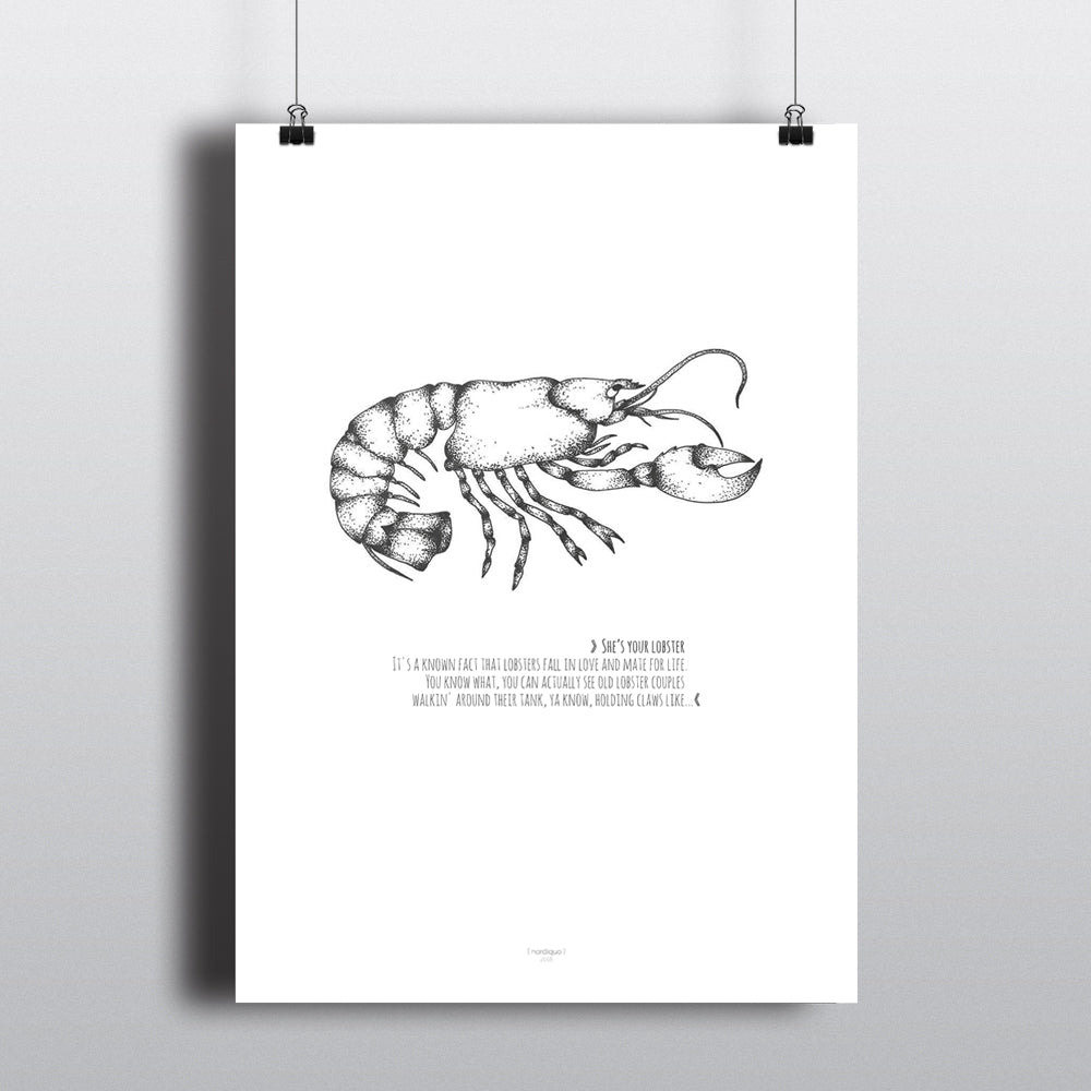 SHE'S YOUR LOBSTER FRIENDS POSTER