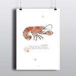 SHE'S YOUR LOBSTER FRIENDS POSTER - RED