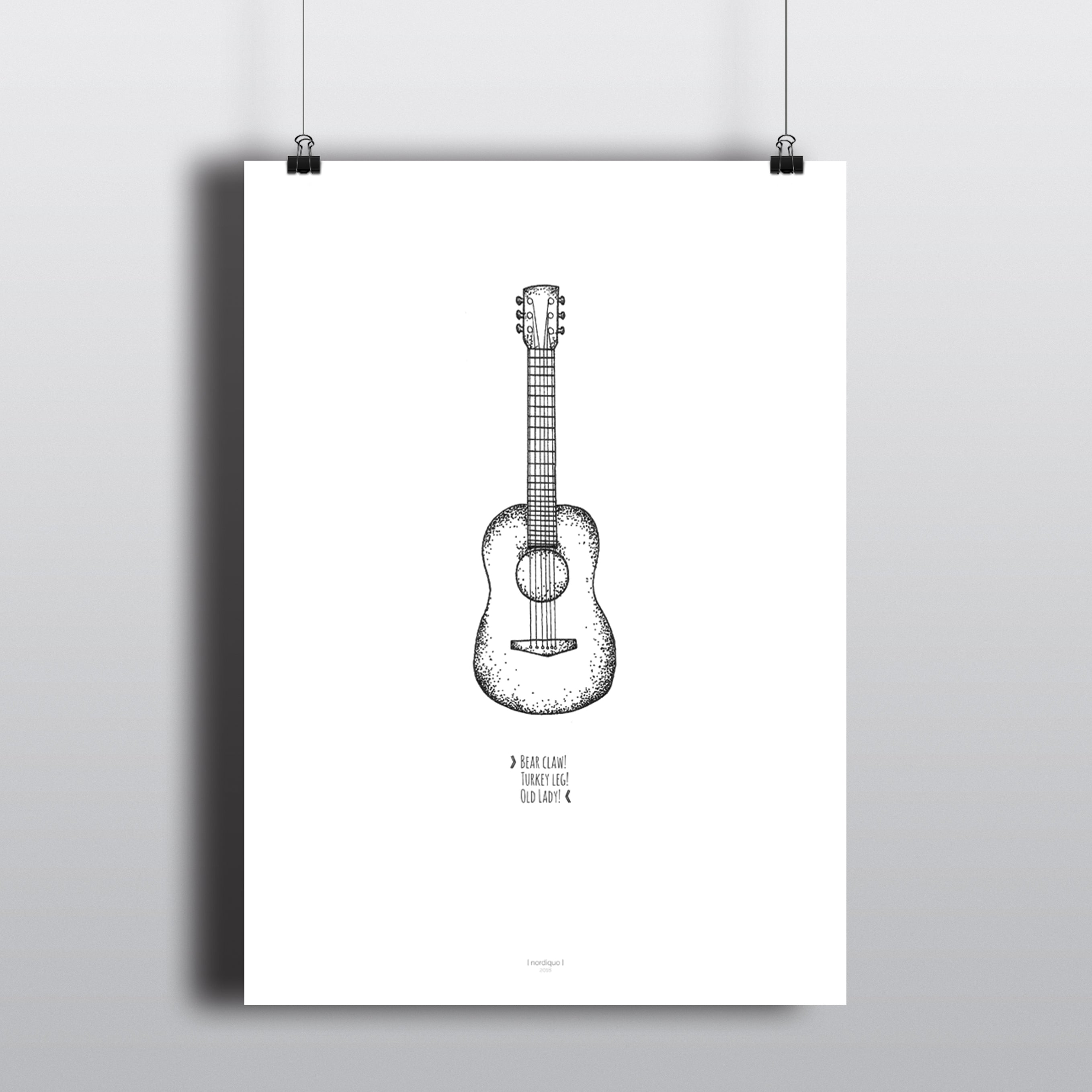 Guitar Chords Friends Quote Poster Nordicquo