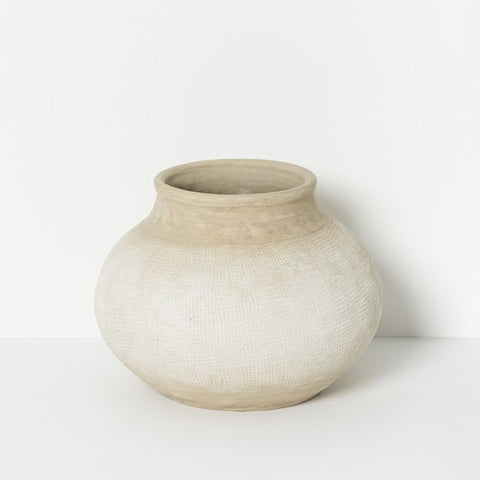 Alika Natural textured pot, urn, planter at Unearthed Homewares