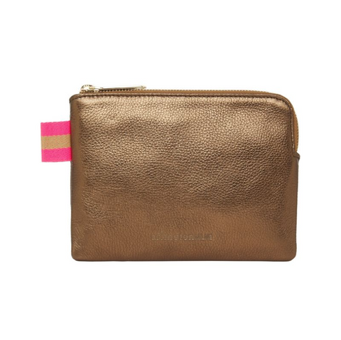 Arlington Milne - Paige Leather Coin Purse | Bronze Pebble