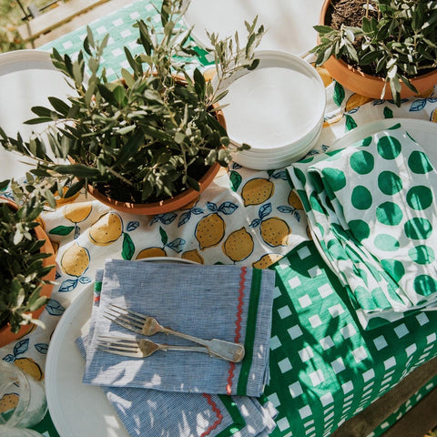 Beautiful Table Linen by Bright Threads at Unearthed Homewares