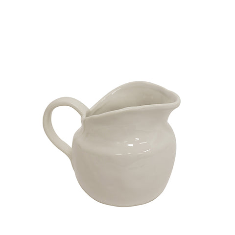 Benoir Pitcher | White Ceramic Jug