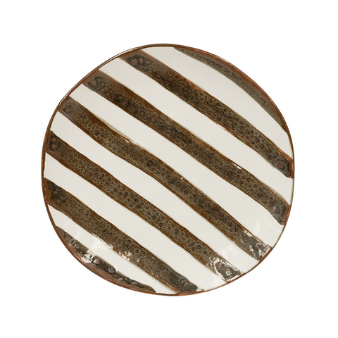 Black and white Ceramic Serving Plate at Unearthed Homewares