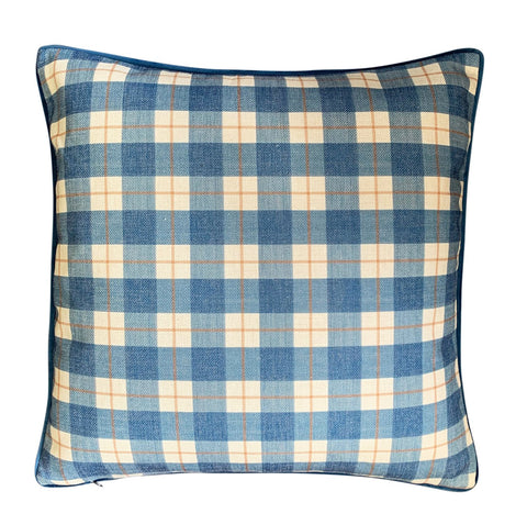 Cushion Cover | Blue and Tobacco Plaid