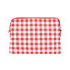 Vegan Leather Bowery Wallet Elms and King in Red Check Gingham