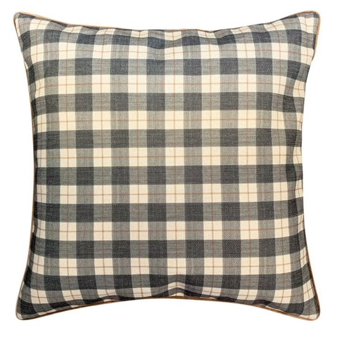 Classic Black Plaid Cushion cover at Unearthed Homewares