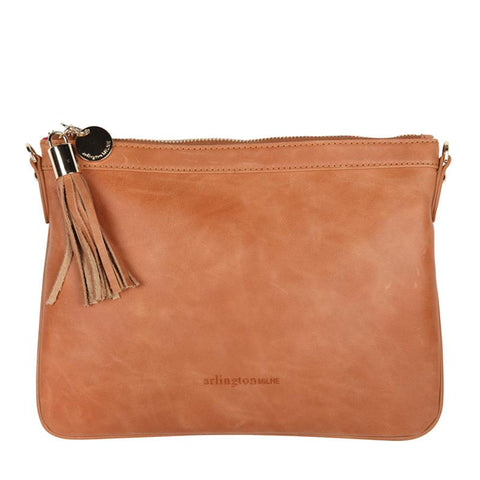 Coco Clutch in Vintage Tan by Arlington Milne avail at Unearthed Homewares