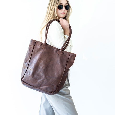 Juju + Co - Boston Tote | Cognac