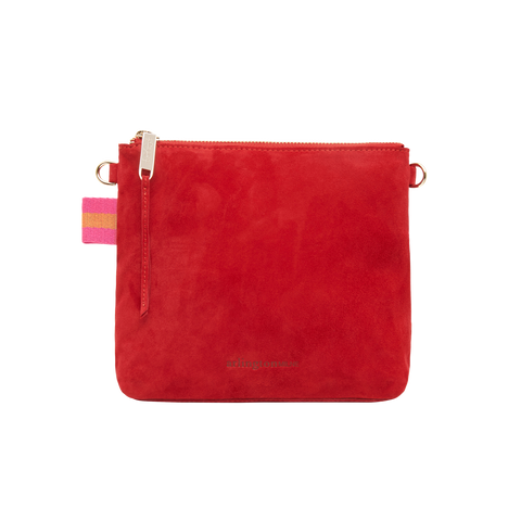 alexis crossbody in cherry suede by arlington milne at unearthed Homewares
