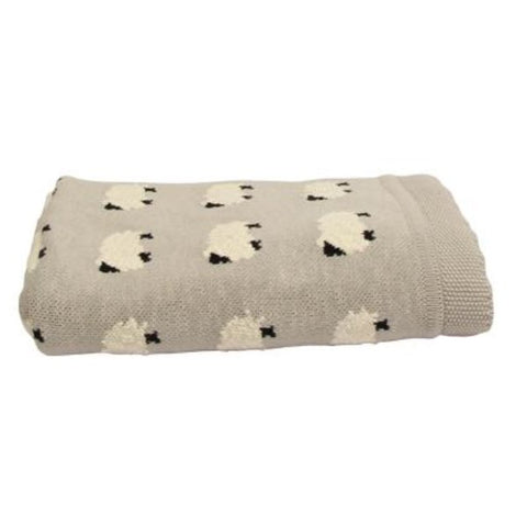 French Country Counting Sheep throw