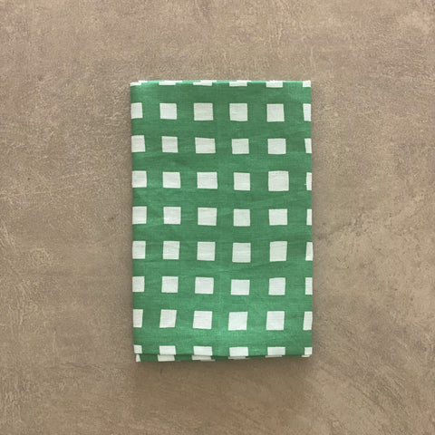 Green Gingham Table linen and napkins by Bright Threads at Unearthed Homewares