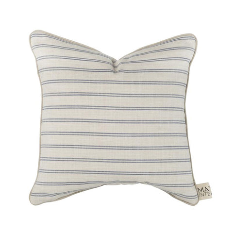 Mayvn Cushion - Haven | Natural & Blue Stripe