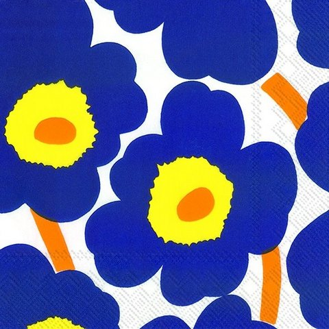 Napkins | Marrimekko Unikko || Blue