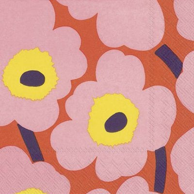 Napkins | Marrimekko Unikko || Rose Orange