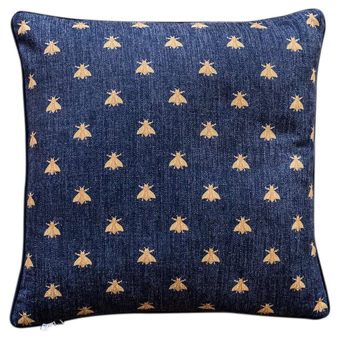 Cushion Cover |Black Bees