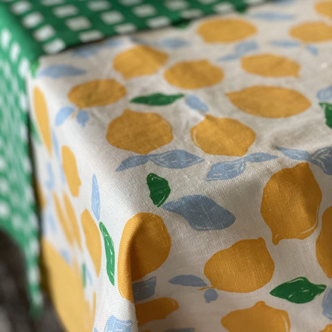 Lemon Tablecloth by Bright Threads at Unearthed Homewares