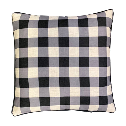 Cushion Cover | Black Gingham