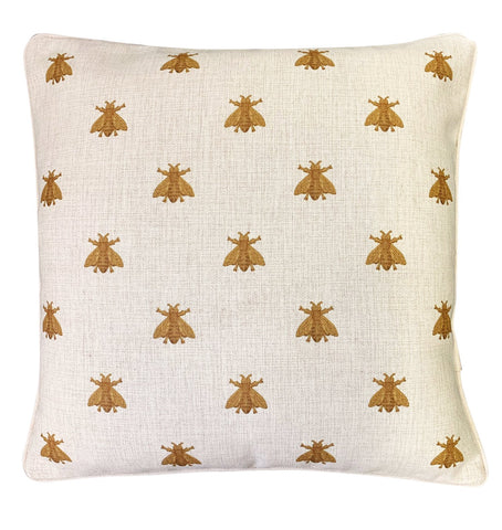 Cushion Cover | Gold Bees