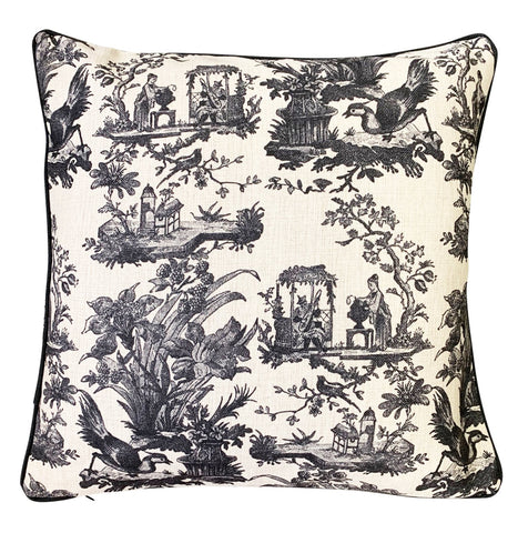 Cushion Cover |Black Toile