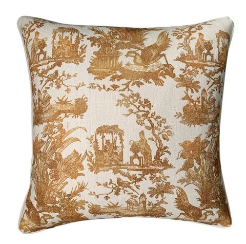 Cushion Cover | Gold Toile