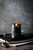 Leather and wood limited edition Fathers Day Candle - Unearthed Homewares