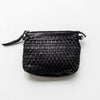 JUJU and Co , Leather woven Pouch Bag in Black at Unearthed Homewares