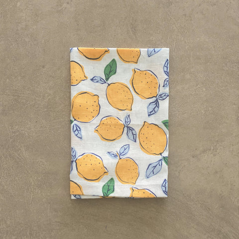 Napkins - Orchard Series | Lemon - Navy Set 4