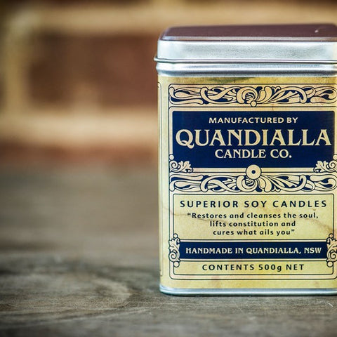 Quandialla Candle - Large Vintage Tin