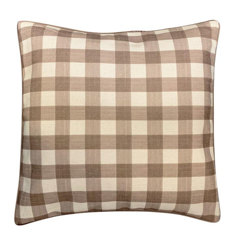 Mocha Check Cushion cover at Unearthed Homewares