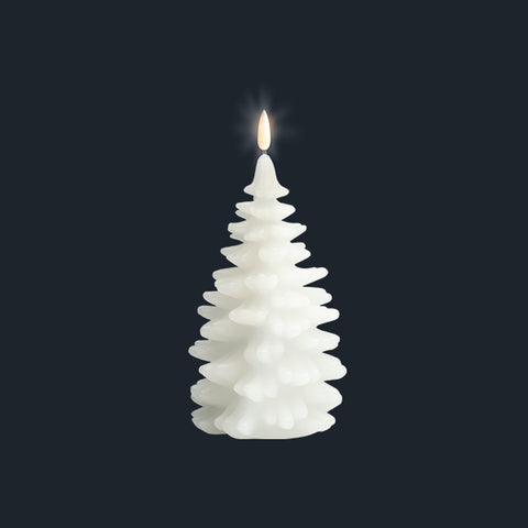 Flameless Candle | Nordic White | Christmas Tree