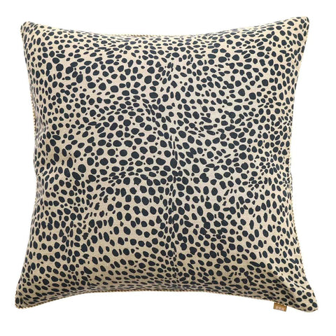 Animal | Leopard Spot Cushion in Navy at Unearthed Homewares