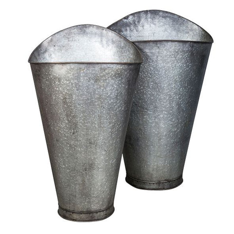 Harvest Buckets in Zinc by French Country Collections at Unearthed Homewares