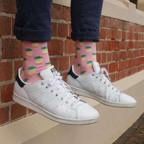 Pink Pineapple socks by ORTC at Unearthed Homewares