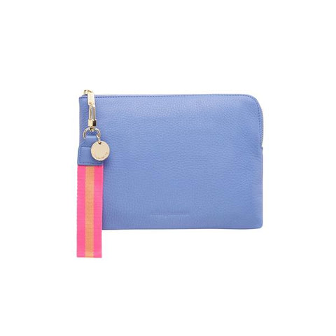 Paige clutch cornflower by Arlington Milne at Unearthed Homewares