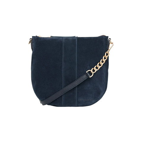 Arlington Milne Zara Tote in Navy Suede at Unearthed Homewares