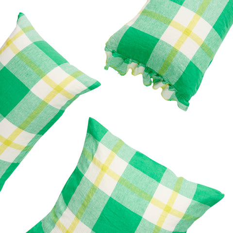 Zest Check Pillowcase Set
