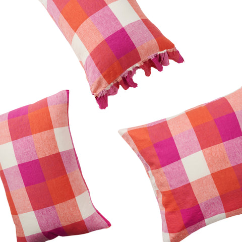 Sherbet Check Pillowcase Set