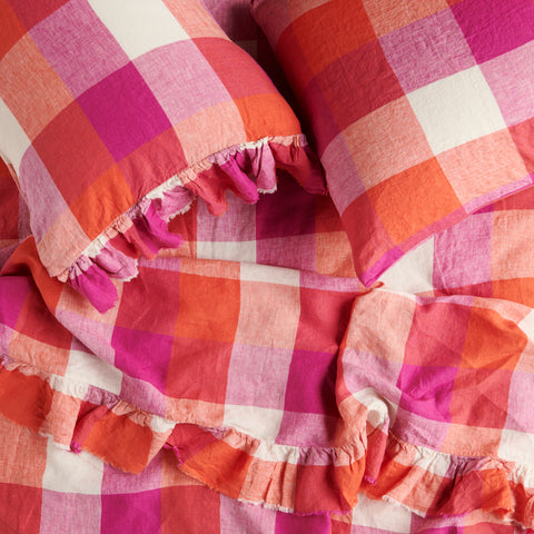 Sherbet Check  Fitted Sheet * Preorder*