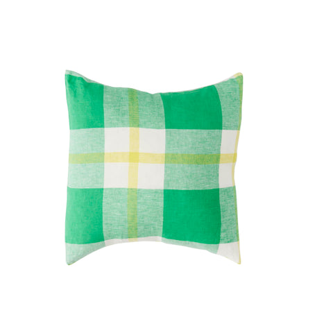 Zest Check Linen Cushion  *Preorder*