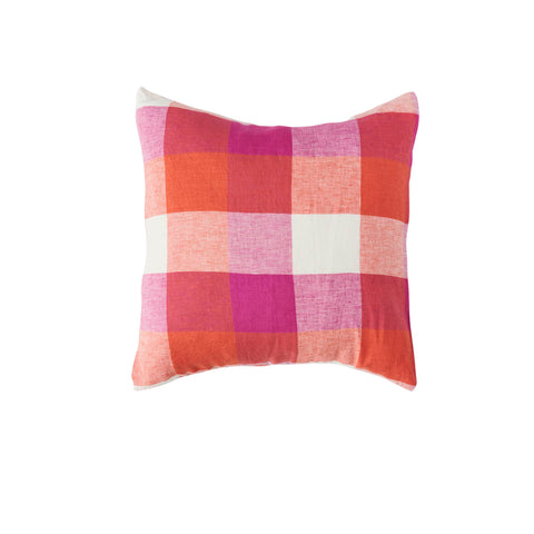 Sherbet Check Linen Cushion  *Preorder*