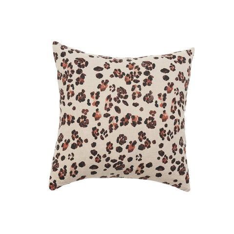 Society of Wanderers - Linen Cushion | Leopard