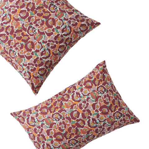 Betty Floral Pillowcases by Society of Wanderers. Marmalade Skies Collection